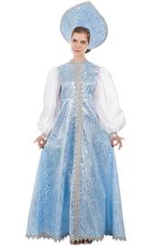 Костюм Снегурочки в голубом платье