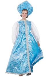 Костюм Снегурочки в бирюзовом платье