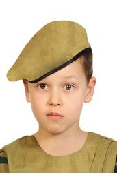 Детский военный берет хаки