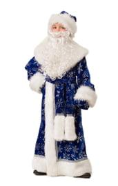 Детский костюм Деда Мороза темно-синий