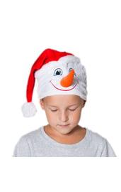Детская шапка Снеговика в колпаке