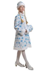 Детский плюшевый костюм снегурочки