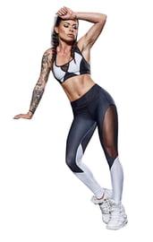 Черно-белые спортивные леггинсы
