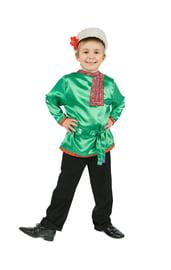 Зеленая детская косоворотка