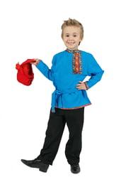 Детская бирюзовая косоворотка