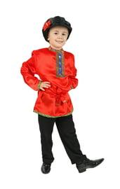 Детская красная косоворотка