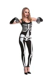 Костюм скелета для девушки