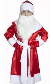 Атласный детский костюм Деда Мороза