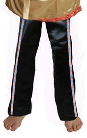 Атласные черные брюки с тесьмой