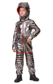 Детский костюм серебристого астронавта