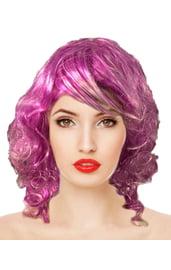 Фиолетовый мелированный парик