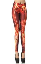 Леггинсы Огненный скелет