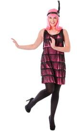 Костюм девушки из кабаре розовый