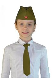Комплект пилотка с галстуком