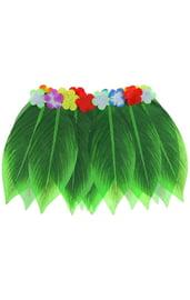 Гавайская юбка Листики и цветочки