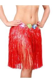 Красная гавайская юбка