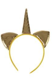 Ободок золотой Единорог