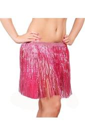 Взрослая гавайская розовая юбка