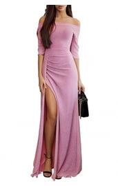 Розовое платье металлик