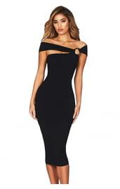 Праздничное черное платье