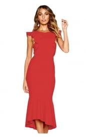 Праздничное красное платье