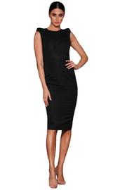 Черное платье с кружевной спиной
