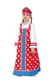 Детский костюм Аленушки в красном