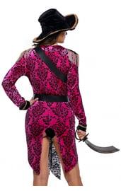 Черно-розовый костюм Пиратки