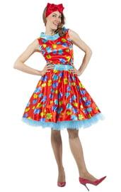 Красное платье стиляги 50-х
