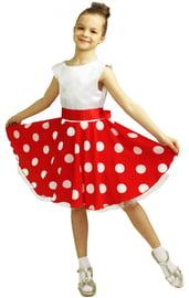 Детское красно-белое платье стиляги