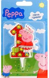 Свеча единичка Свинка Пеппа