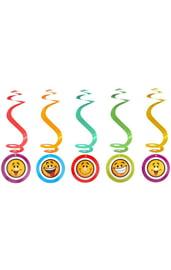 Спираль серпантин Смайлики 6 шт