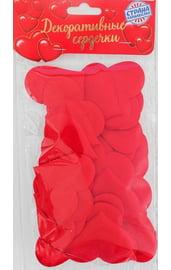 Набор красных декоративных сердечек 25 шт