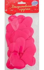 Набор розовых декоративных сердечек 25 шт