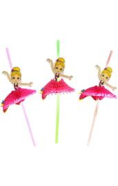 Набор трубочек для коктейля Балерина 6 шт