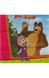 Бумажные салфетки Маша и медведь 12 шт
