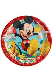 Бумажные тарелки Игривый Микки Маус 8 шт