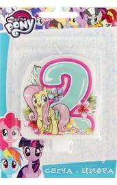 Свеча двойка My little pony