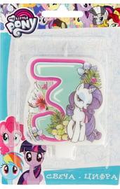 Свеча тройка My Little Pony