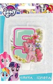 Свеча пятерка My Little Pony