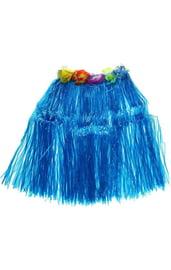 Синяя гавайская юбка
