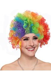 Разноцветный парик клоуна