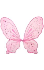 Детские розовые крылья бабочки
