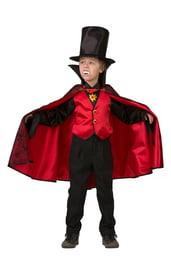 Детский костюм Дракулы в красном