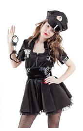 Взрослый костюм строгой полицейской