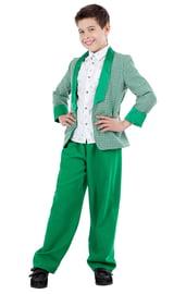 Детский зеленый костюм стиляги