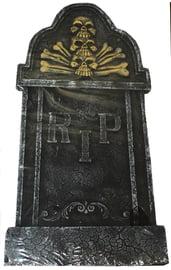 Декоративное надгробие Череп и кости