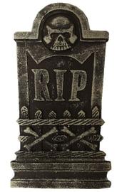Декоративное надгробие с черепом RIP