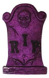 Фиолетовое блестящее надгробие с черепом