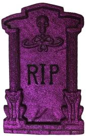 Фиолетовое блестящее надгробие RIP
